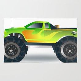 Monster Truck Toy Design Rug