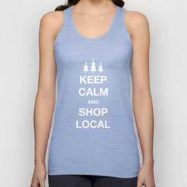 KEEP CALM SHOP LOCAL Unisex Tank Top