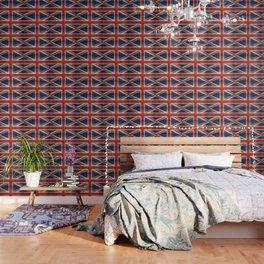 UK flag - High Quality Bright retro 1:2 Scale Wallpaper