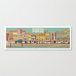 Porto - panoramic Canvas Print