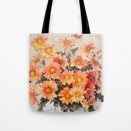 orange daisies Tote Bag