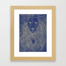 Lion's Secret Framed Art Print