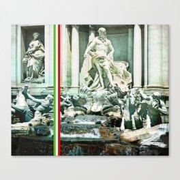 Italian Trevi fountain Rome Canvas Print