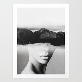 silence of the mountain Art Print