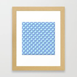 Blue marbles Framed Art Print