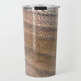 Warm Waved Wood Travel Mug