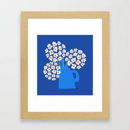 Abstraction_FLORAL_Blossom_001 Framed Art Print