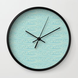 Blue Scribbles Pattern 05 Wall Clock