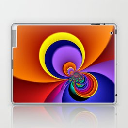 time for fractals -5- curtain Laptop & iPad Skin