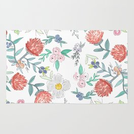 Floral Watercolor Pattern  Rug