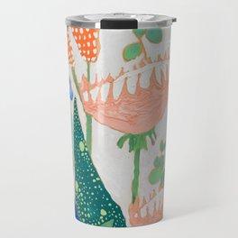 Proteas and Birds of Paradise Painting Travel Mug