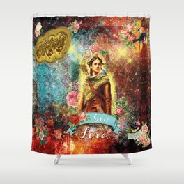 Katniss - Girl on Fire Shower Curtain
