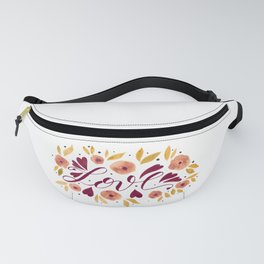 Love and flowers - garnet and orange Fanny Pack