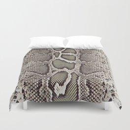 Faux Boa Constrictor Snake Skin Design Duvet Cover
