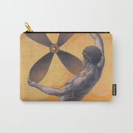 Merman with Ship Propeller Vintage Art Carry-All Pouch