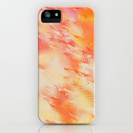 Feathers abstraction iPhone Case