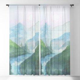 Mountain River Sheer Curtain