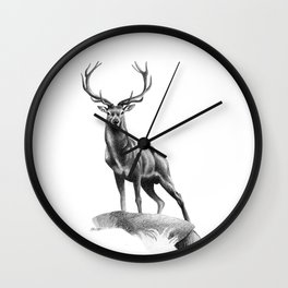 All Muscle - Red Deer Stag Wall Clock