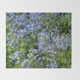 Forget-me-not! Throw Blanket