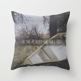 Oh the Places We Will Go Throw Pillow