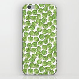 Brussel Sprouts pattern iPhone Skin