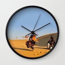 Thar Desert, Rajasthan, India Wall Clock