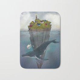 Mermaid and Whale Bath Mat