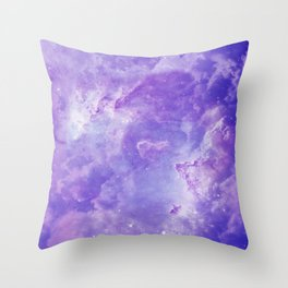 Violet galaxy Throw Pillow
