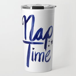 Nap Time | Lazy Sleep Typography Travel Mug