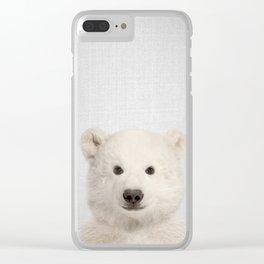 Polar Bear - Colorful Clear iPhone Case