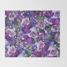Romantic flowers III Throw Blanket