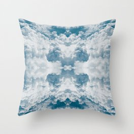 Heavenly Clouds Mandala | X Marks the Spot Throw Pillow