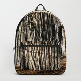 tree bark and wood Backpack