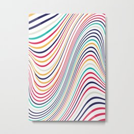Abstract color waves Metal Print