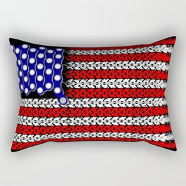 Bike USA Flag Rectangular Pillow