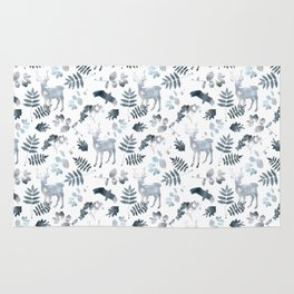Northern forest (white pattern) Rug