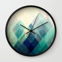 Mountains print, Abstract print, geometric wall art, abstract mountain, minimalist art, modern art, Wall Clock