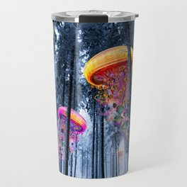 Winter Forest of Electric Jellyfish Worlds Travel Mug