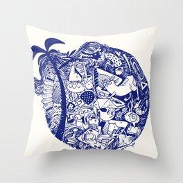 chock-full circle Throw Pillow