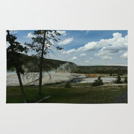 Firehole River And Geyser Area Rug