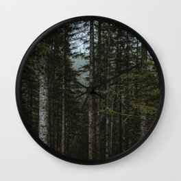 Oregon Trees Wall Clock