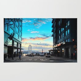 Seattle Summer Sunset Rug
