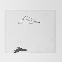 Paper Airplane Dreams Throw Blanket