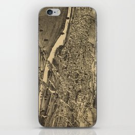 Vintage Map of Corning New York (1882) iPhone Skin