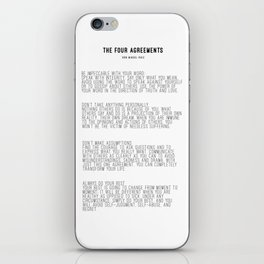 The Four Agreements BW #minimalism iPhone Skin