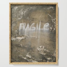 Fragile city Serving Tray