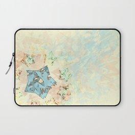 Beige & Blue Laptop Sleeve