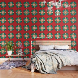 Kilim flower Wallpaper