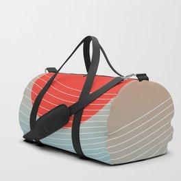 Red sun & white waves Duffle Bag