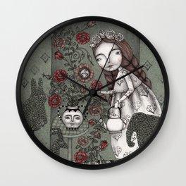 When it Snows Outside (My Secret Garden) Wall Clock
